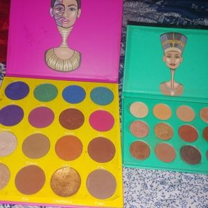 2 Juvia's Place palettes used eyeshadow bundle